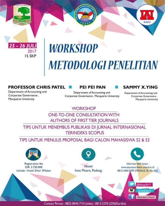 Workshop Metodologi Penelitian FDASP 2017